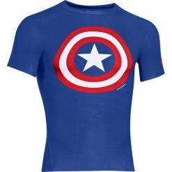 Under Armour Koszulka męska Alter Ego Transform Yourself Captain America niebieska r. M (1244399-402). Szare koszulki sportowe męskie marki Under Armour, z elastanu, sportowe. Za 139,00 zł.