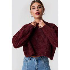 Trendyol Krótki sweter - Red. Czerwone swetry oversize damskie Trendyol. Za 100,95 zł.