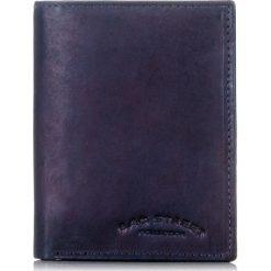 Granatowy SKÓRZANY PORTFEL MĘSKI BAG STREET. Niebieskie portfele męskie marki Bag Street, z materiału. Za 49,00 zł.
