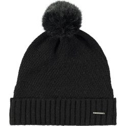 Barts - Czapka Amaranth. Czarne czapki zimowe damskie marki Barts, na zimę, z dzianiny. W wyprzedaży za 99,90 zł.