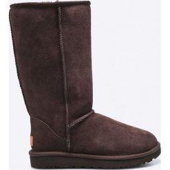 UGG - Kozaki. Szare buty zimowe damskie marki Ugg, z materiału, z okrągłym noskiem. Za 1199,00 zł.