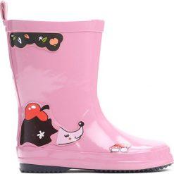 Różowe Kalosze Cute Hedgehog. Czerwone kalosze dziewczęce marki Born2be. Za 59,99 zł.