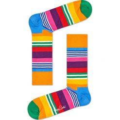 Happy Socks - Skarpetki Multi Stripe. Pomarańczowe skarpetki damskie Happy Socks, z bawełny. Za 39,90 zł.