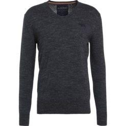 Swetry klasyczne męskie: Superdry ORANGE LABEL VEE Sweter atlantic grindle
