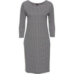 Sukienka bonprix czaro-biały. Czarne sukienki dzianinowe marki bonprix. Za 59,99 zł.
