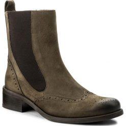 Botki NESSI - 43803 Khaki 9. Zielone buty zimowe damskie marki Nessi, z materiału, na obcasie. W wyprzedaży za 229,00 zł.
