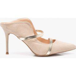 Answear - Sandały Bellucci. Szare sandały damskie marki ANSWEAR, z materiału, na obcasie. W wyprzedaży za 79,90 zł.