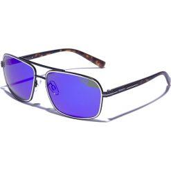 """Okulary przeciwsłoneczne męskie: Okulary męskie """"Henardo 2"""" w kolorze czarno-brązowo-fioletowo-niebieskim"""