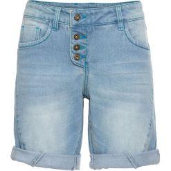 """Szorty dżinsowe bonprix jasnoniebieski """"bleached"""". Niebieskie bermudy damskie bonprix, z jeansu. Za 129,99 zł."""