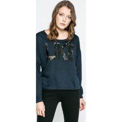 Vero Moda - Bluza Diddle. Czarne bluzy z nadrukiem damskie Vero Moda, l, z bawełny, bez kaptura. W wyprzedaży za 49,90 zł.