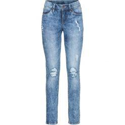 Dżinsy SKINNY bonprix niebieski. Niebieskie rurki damskie bonprix, z jeansu. Za 109,99 zł.
