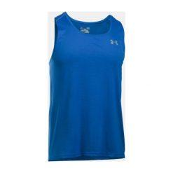 Under Armour Koszulka męska UA COOLSWITCH RUN SINGLET v2 niebieska r. M (1290016-789). Niebieskie t-shirty męskie marki Under Armour, m. Za 119,99 zł.