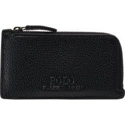 Polo Ralph Lauren ZIP CARDCASE Portfel black. Czarne portfele damskie marki Polo Ralph Lauren. Za 419,00 zł.