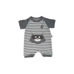 Sigikid  Boys Rampersy grey melange - szary - Gr.Niemowlę (0 - 6 miesięcy). Szare rampersy niemowlęce marki SIGIKID, z bawełny. Za 99,00 zł.