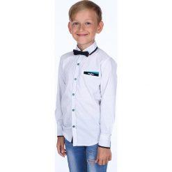Koszula chłopięca we wzory z muchą biała NDZ7191. Białe koszule chłopięce Fasardi. Za 49,00 zł.