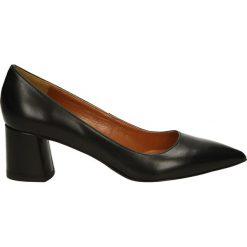 Czółenka - 5970 VIT NERO. Brązowe buty ślubne damskie Venezia, ze skóry. Za 189,00 zł.