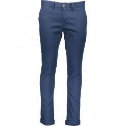 Spodnie chino - Skinny Fit - w kolorze granatowym. Niebieskie chinosy męskie marki Ben Sherman, z aplikacjami, z materiału. W wyprzedaży za 173,95 zł.