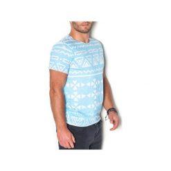 T-shirt Atol. Niebieskie t-shirty męskie z nadrukiem marki beYOUnique, l. Za 97,00 zł.