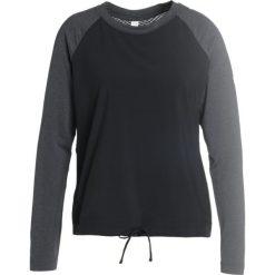 Bluzki asymetryczne: Lolë TRAVIS  Bluzka z długim rękawem black