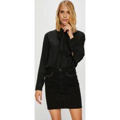 Pepe Jeans - Koszula Lucia. Czarne koszule jeansowe damskie Pepe Jeans, l, casualowe, z długim rękawem. Za 299,90 zł.