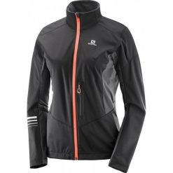 Salomon Lightning Sshell Jkt W Black/Forged Iron Xl. Czarne kurtki damskie narciarskie Salomon, l, z tkaniny. W wyprzedaży za 459,00 zł.