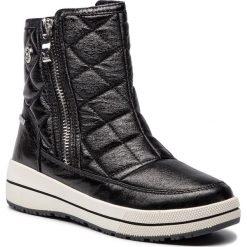 Śniegowce CAPRICE - 9-26454-21 Black Metallic 091. Czarne buty zimowe damskie Caprice, ze skóry ekologicznej. W wyprzedaży za 199,00 zł.