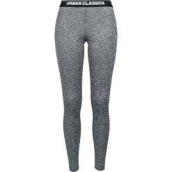 Spodnie damskie: Urban Classics Ladies Active Melange Logo Leggings Legginsy odcienie ciemnoszarego