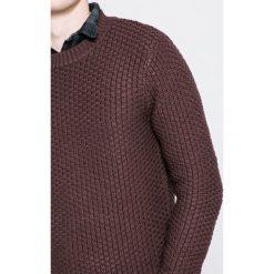 Only & Sons - Sweter. Szare swetry klasyczne męskie Only & Sons, l, z bawełny, z okrągłym kołnierzem. W wyprzedaży za 69,90 zł.
