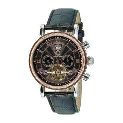 """Zegarki męskie: Zegarek """"CDTOLEATLTSTRGBK"""" w kolorze czarno-srebrno-różowozłotym"""