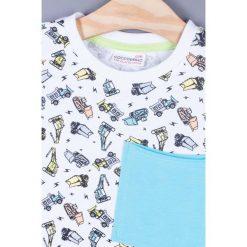 Coccodrillo - T-shirt dziecięcy 92-122 cm. Białe t-shirty chłopięce marki COCCODRILLO, m, z bawełny, z okrągłym kołnierzem. Za 39,90 zł.