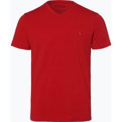 Guess Jeans - T-shirt męski, czerwony. Szare t-shirty męskie marki Guess Jeans, l, z aplikacjami, z bawełny. Za 129,95 zł.