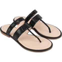 Klapki damskie: Sandały japonki w kolorze czarnym