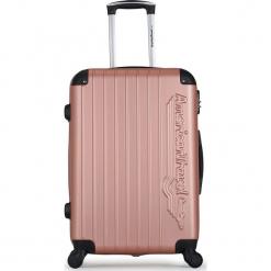 """Walizka """"Budapest"""" w kolorze różowozłotym - 36 x 50 x 26 cm. Żółte walizki American Travel, z materiału. W wyprzedaży za 140,95 zł."""