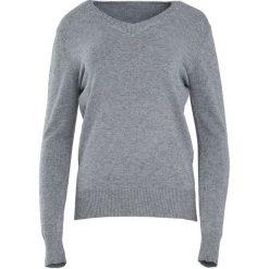 Szary Sweter Just A Drop. Szare swetry klasyczne damskie Born2be, xl, z dzianiny, z dekoltem w serek. Za 59,99 zł.