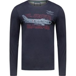 T-shirty męskie: T-shirt AERONAUTICA MILITARE Granatowy
