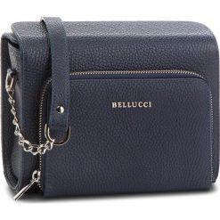 Torebka BELLUCCI - R-384 Granat groszek. Czarne listonoszki damskie marki Bellucci. W wyprzedaży za 229,00 zł.