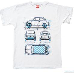 Koszulka FIAT 500 OLD & ABARTH. Czarne t-shirty męskie marki Pakamera, m, z kapturem. Za 77,00 zł.