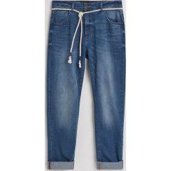 Jeansy slim fit z bawełną organiczną - Niebieski. Niebieskie jeansy męskie relaxed fit marki bonprix. Za 129,99 zł.