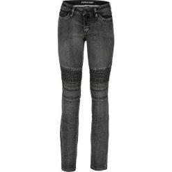 Dżinsy SKINNY w stylu biker bonprix czarny denim. Niebieskie jeansy damskie skinny marki House, z jeansu. Za 139,99 zł.
