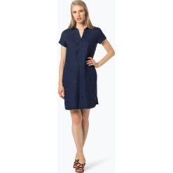 Apriori - Lniana sukienka damska, niebieski. Niebieskie sukienki balowe marki Apriori, l. Za 299,95 zł.