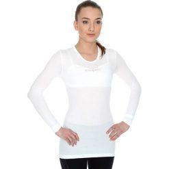 Bluzki sportowe damskie: Brubeck Koszulka unisex z długim rękawem biała r. L (LS10850)
