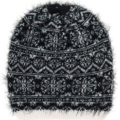 Czapka damska Winter grass czarno biała. Białe czapki zimowe damskie marki Art of Polo. Za 42,47 zł.