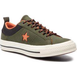 Tenisówki CONVERSE - One Star Ox 162544C Utility Green/Campfire Orange. Zielone tenisówki męskie Converse, z gumy. W wyprzedaży za 259,00 zł.