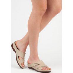 Chodaki damskie: Wygodne klapki na lato HASBY odcienie brązu i beżu