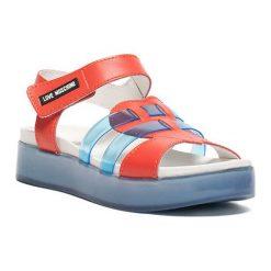 Sandały damskie: Sandały w kolorze koralowo-niebieskim