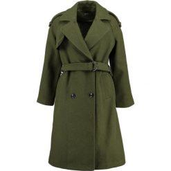 KIOMI Płaszcz wełniany /Płaszcz klasyczny green. Zielone płaszcze damskie pastelowe KIOMI, z materiału, klasyczne. W wyprzedaży za 356,85 zł.