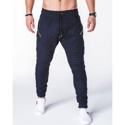 SPODNIE MĘSKIE JOGGERY P709 - GRANATOWE. Niebieskie joggery męskie marki Ombre Clothing. Za 79,00 zł.