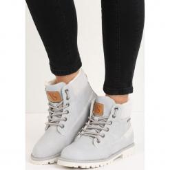 Szare Traperki Swamparoo. Szare buty zimowe damskie Born2be, z materiału, z okrągłym noskiem, na obcasie. Za 69,99 zł.
