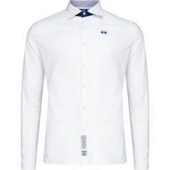 f28ce8c430e56 Koszula LA MARTINA GERVASIO. Białe koszule męskie La Martina, z haftami, z  elastanu