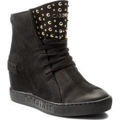 Sneakersy CARINII - B4392 360-000-000-B88. Czarne sneakersy damskie Carinii, z materiału. W wyprzedaży za 279,00 zł.